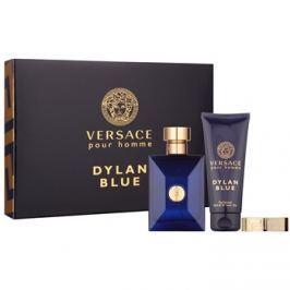 Versace Dylan Blue Pour Homme darčeková sada III.  toaletná voda 100 ml + sprchový gel 100 ml + spona na peniaze