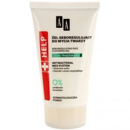 AA Cosmetics Help Acne Skin antibakteriálny čistiaci gél pre redukciu kožného mazu  150 ml