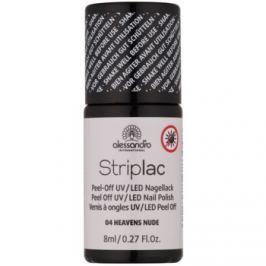 Alessandro Striplac zlupovací UV/LED lak na nechty odtieň 04 Heavens Nude 8 ml