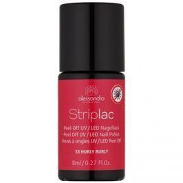 Alessandro Striplac zlupovací UV/LED lak na nechty odtieň 33 Hurly Burly 8 ml