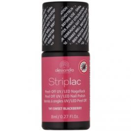 Alessandro Striplac zlupovací UV/LED lak na nechty odtieň 141 Sweet Blackberry 8 ml