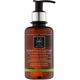 Apivita Cleansing Propolis & Lime čistiace tonikum pre mastnú a zmiešanú pleť  200 ml