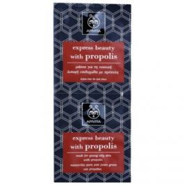 Apivita Express Beauty Propolis čistiaca maska pre mastnú pleť  2 x 8 ml