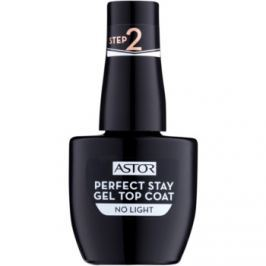 Astor Perfect Stay Gel Top Coat vrchný gélový lak na nechty bez použitia UV/LED lampy 001 12 ml