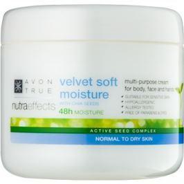 Avon True NutraEffects zjemňujúci hydratačný krém na tvár a telo  400 ml
