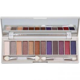 BHcosmetics Enhancing paleta očných tieňov so zrkadielkom Bright Blue Eyes  15,6 g