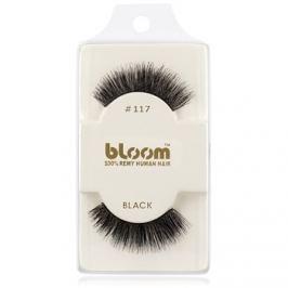 Bloom Natural nalepovacie riasy z prírodných vlasov No. 117 (Black) 1 cm