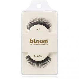 Bloom Natural nalepovacie riasy z prírodných vlasov No. 1 (Black) 1 cm