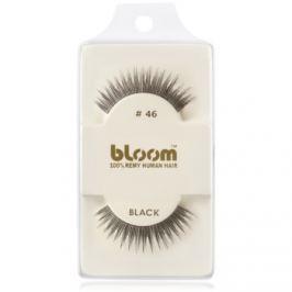 Bloom Natural nalepovacie riasy z prírodných vlasov No. 46 (Black) 1 cm