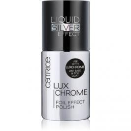 Catrice Luxchrome lak na nechty so zrkadlovým efektom odtieň 01 Liquid Silver 8 ml