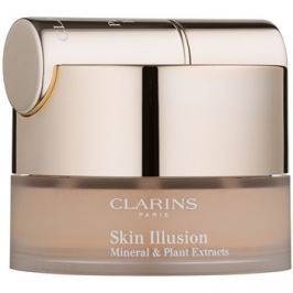 Clarins Face Make-Up Skin Illusion púdrový make-up so štetčekom odtieň 112 Amber 13 g