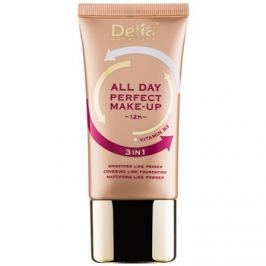 Delia Cosmetics All Day Perfect make-up 3v1 odtieň 02 Sand Beige 30 ml