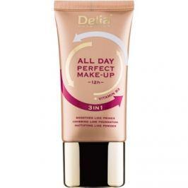 Delia Cosmetics All Day Perfect make-up 3v1 odtieň 01 Warm Beige 30 ml