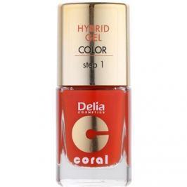 Delia Cosmetics Coral Nail Enamel Hybrid Gel gélový lak na nechty odtieň 02  11 ml