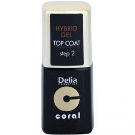 Delia Cosmetics Coral Nail Enamel Hybrid Gel gélový vrchný lak na nechty  11 ml