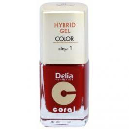 Delia Cosmetics Coral Nail Enamel Hybrid Gel gélový lak na nechty odtieň 01  11 ml