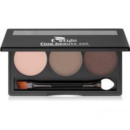 E style Fine Beauty paleta pre líčenie obočia odtieň 02 Medium Brown 5,7 g