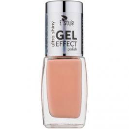E style Gel Effect gélový lak na nechty bez použitia UV/LED lampy odtieň 18 Sherbert 10 ml