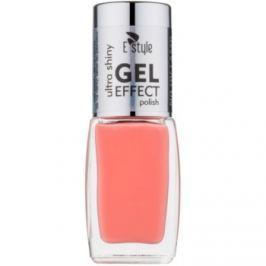 E style Gel Effect gélový lak na nechty bez použitia UV/LED lampy odtieň 04 Coral 10 ml