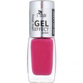 E style Gel Effect gélový lak na nechty bez použitia UV/LED lampy odtieň 12 Hot Pink 10 ml