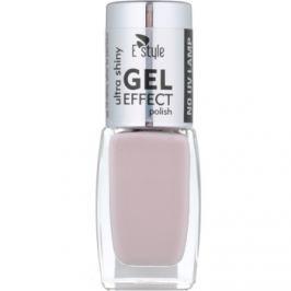 E style Gel Effect gélový lak na nechty bez použitia UV/LED lampy odtieň 02 Nude 10 ml