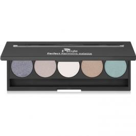 E style Perfect Harmony Palette paleta očných tieňov so zrkadielkom odtieň 08 Posh 9,5 g