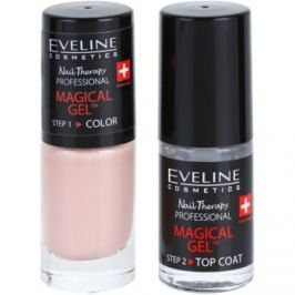 Eveline Cosmetics Nail Therapy Professional gélový lak na nechty bez použitia UV/LED lampy odtieň 02  2 x 5 ml
