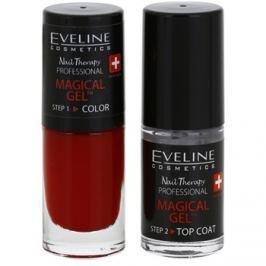 Eveline Cosmetics Nail Therapy Professional gélový lak na nechty bez použitia UV/LED lampy odtieň 04  2 x 5 ml