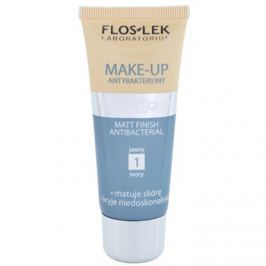 FlosLek Laboratorium Anti Acne zmatňujúci make-up antibakteriálna odtieň 1 Ivory 30 ml