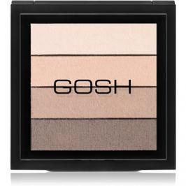 Gosh Smokey paleta očných tieňov odtieň 02 Brown 8 g