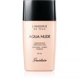 Guerlain Lingerie de Peau Aqua Nude ľahký hydratačný make-up SPF 20 odtieň 02C Light Cool 30 ml