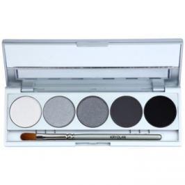 Kryolan Basic Eyes paleta očných tieňov 5 farieb so zrkadielkom a aplikátorom odtieň Berlin Matt/Iridescent 7,5 g