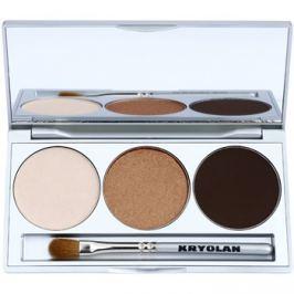 Kryolan Basic Eyes paleta očných tieňov so zrkadielkom a aplikátorom odtieň Smokey Beige 7,5 g
