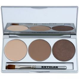 Kryolan Basic Eyes paleta očných tieňov so zrkadielkom a aplikátorom odtieň Smokey Caramel 7,5 g
