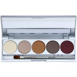 Kryolan Basic Eyes paleta očných tieňov 5 farieb so zrkadielkom a aplikátorom odtieň Casablanca Matt/Iridescent 7,5 g