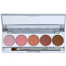 Kryolan Basic Eyes paleta očných tieňov 5 farieb so zrkadielkom a aplikátorom odtieň Florence Matt 7,5 g