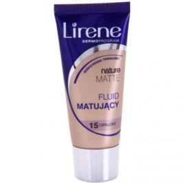 Lirene Nature Matte zmatňujúci fluidný make-up pre dlhotrvajúci efekt odtieň 15 Tanned 30 ml