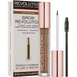 Makeup Revolution Brow Revolution fixačný gél na obočie odtieň Soft Brown 3,8 g