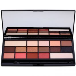 Makeup Revolution I ♥ Makeup Chocolate Vice paleta očných tieňov so zrkadielkom a aplikátorom  22 g