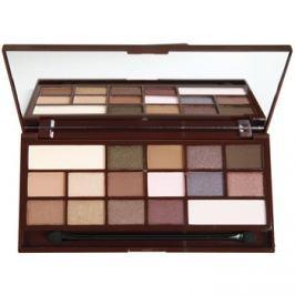 Makeup Revolution I ♥ Makeup I Heart Chocolate paleta očných tieňov so zrkadielkom a aplikátorom odtieň I Heart Chocolate  22 g