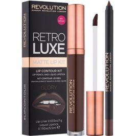 Makeup Revolution Retro Luxe matná sada na pery odtieň Glory 5,5 ml