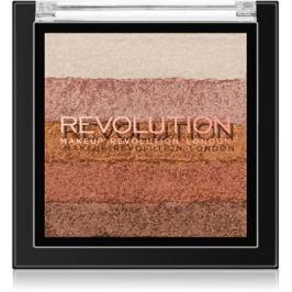 Makeup Revolution Shimmer Brick bronzer a rozjasňovač 2 v 1 odtieň Bronze Kiss 7 g