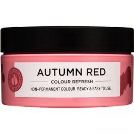Maria Nila Colour Refresh Autumn Red jemná vyživujúca maska bez permanentných farebných pigmentov výdrž 4-10 umytí 6.60 100 ml
