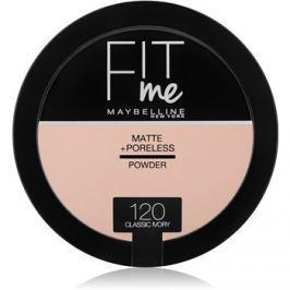 Maybelline Fit Me! Matte+Poreless zmatňujúci púder odtieň 120 Classic Ivory 14 g