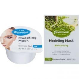 Missha Homemade Mungbean Powder modelačná pleťová maska s hydratačným účinkom 5 g + 50 ml