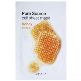Missha Pure Source plátenná maska s rozjasňujúcim a hydratačným účinkom Honey 21 g