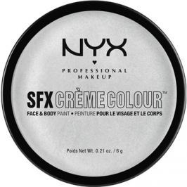 NYX Professional Makeup SFX Creme Colour™ make-up na tvár a telo odtieň 12 Silver 6 g