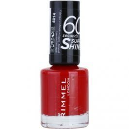 Rimmel 60 Seconds Super Shine lak na nechty odtieň 310 Double Decker Red 8 ml