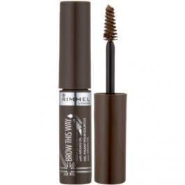 Rimmel Brow This Way gél na úpravu obočia odtieň 002 Medium Brown 5 ml