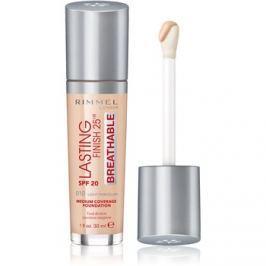 Rimmel Lasting Finish 25H Breathable tekutý make-up SPF 20 odtieň 010 Light Porcelain 30 ml